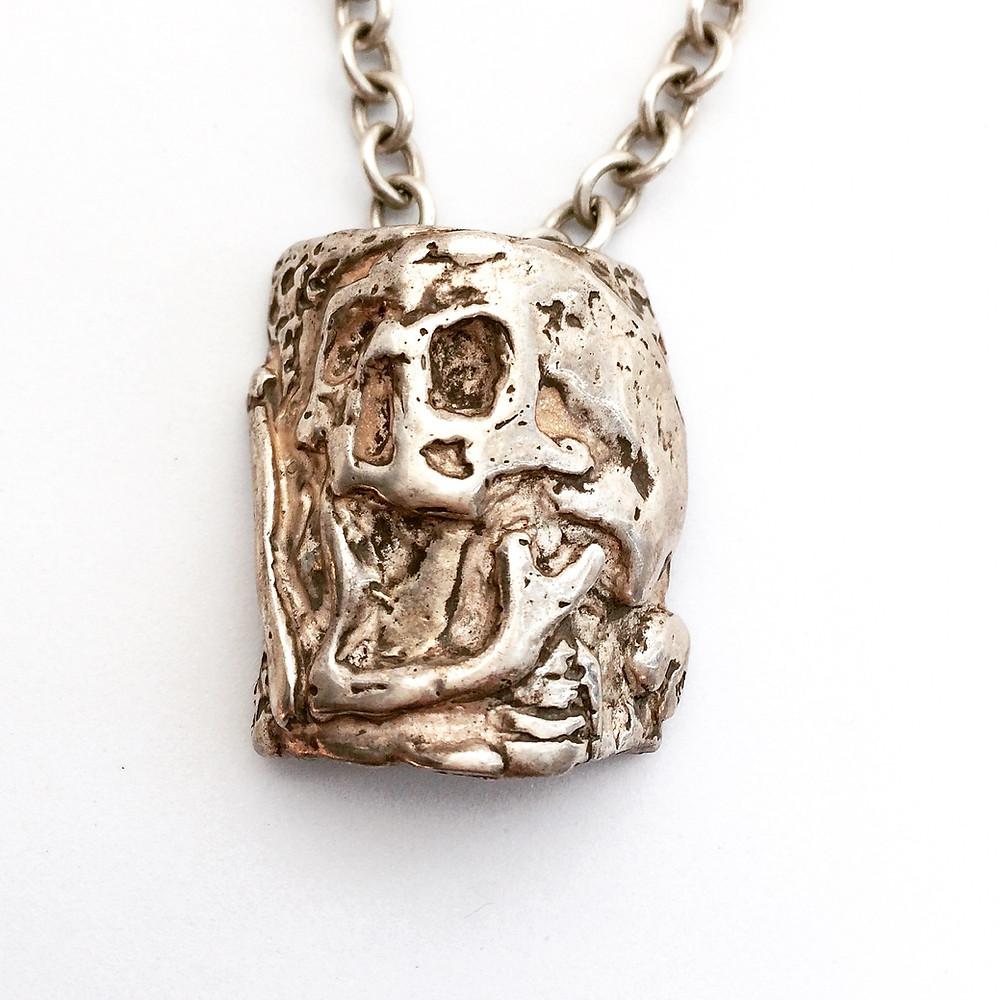 Massive Skull Necklace for Men & Women. Biker, Rocker Statement Jewelry