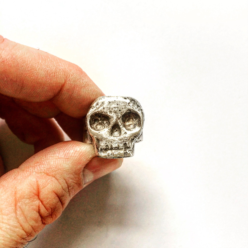 Handcrafted Solid Silver Skull Ring by LUGDUN ARTISANS