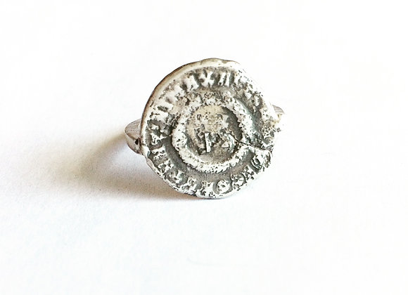 womens ring, ancient coin ring for women by LUGDUN ARTISANS