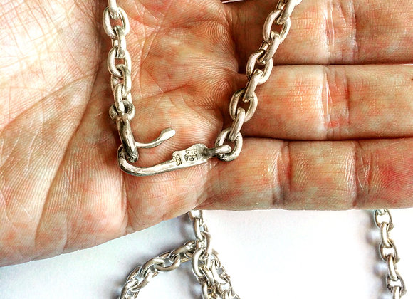 mens necklace, chain necklace, silver necklace, handcrafted, LUGDUN ARTISANS