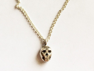 An elegant skull necklace for women.