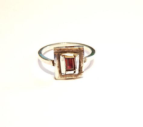 Womens Garnet ring by MMS Artisan Designs