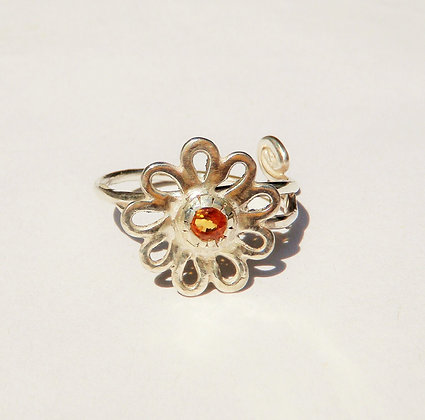 womens flower ring by MMS Artisan Designs
