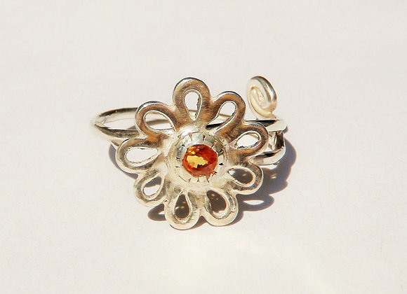 womens flower ring by MMS Artisan Designs