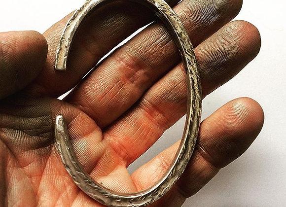 Anvil Hammered Cuff Bracelet