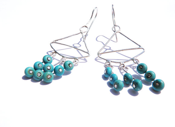 turquoise earrings by MMS Artisan Designs