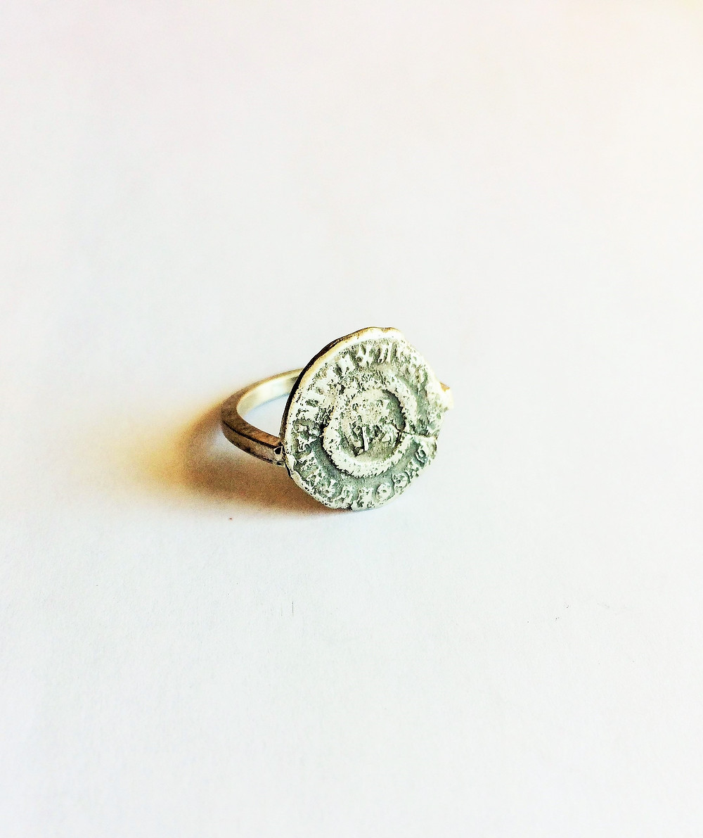 Women's Ancient Coin Ring - Biker Rocker Jewelry handcrafted in the USA by LUGDUN ARTISANS
