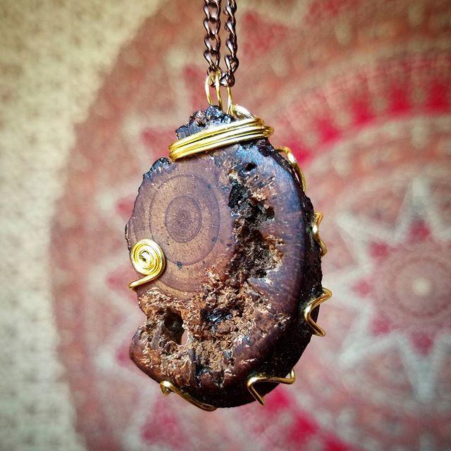 Wood slice pendant