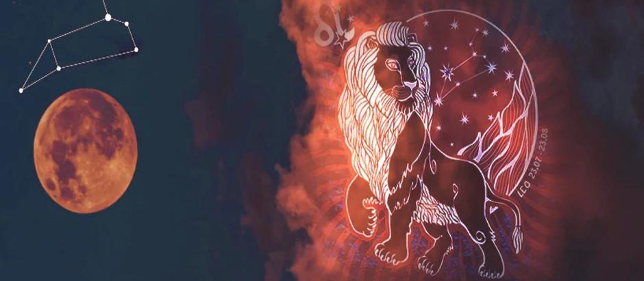God fullmåne i Leo