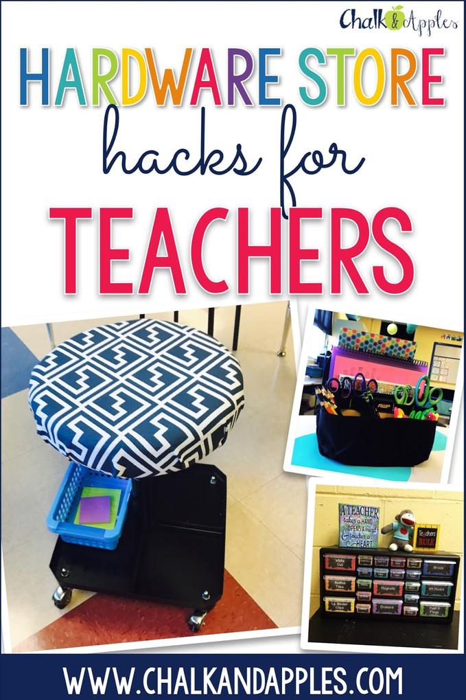 Hardware Store Hacks for Teachers