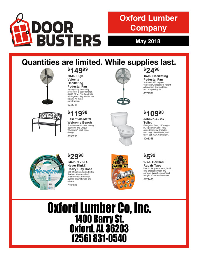 May Door Busters