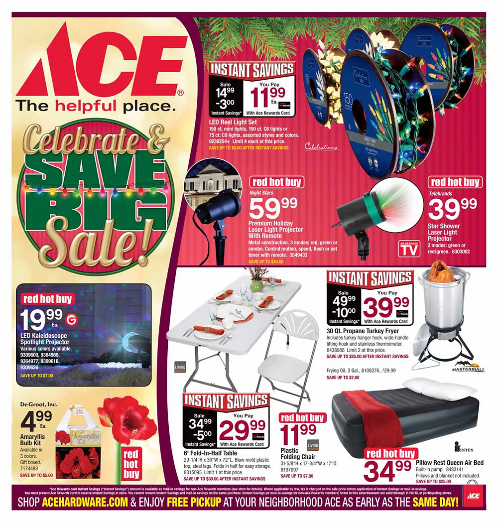 Huge Savings on Red Hot Buys and Instant Savings!