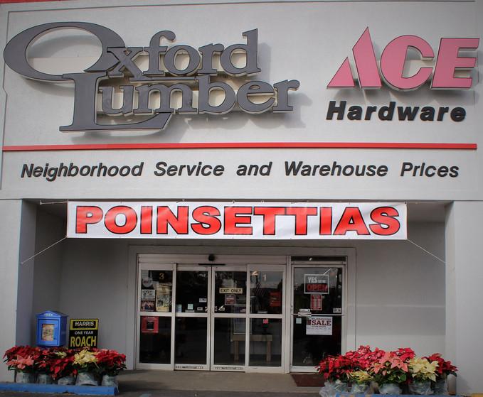 Poinsettia's available at Oxford & Talladega Location!