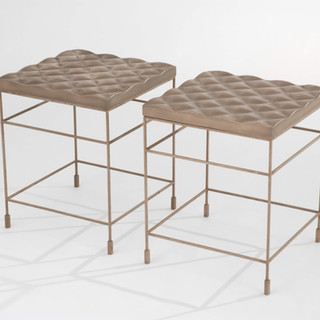 Gabriel Quilted Accent Table