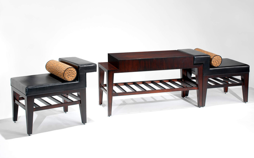 Danto Console with Slipper Chairs