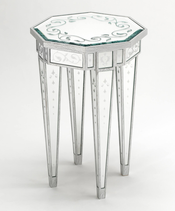 Lewiston Mirrored Accent Table