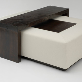Mark Cocktail Ottoman with Bridge Table
