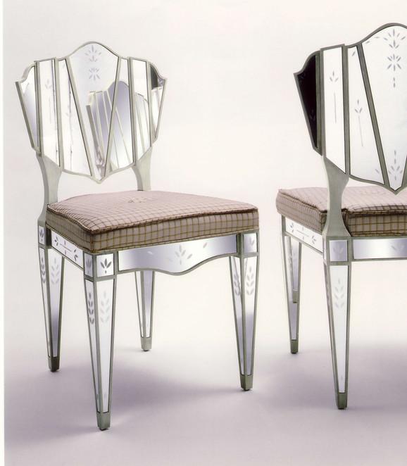 Lewiston Suite Mirrored Chair