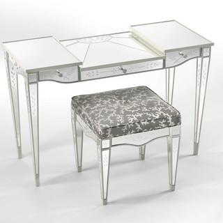 Lewiston Suite - Mirrored Vanity and Stool