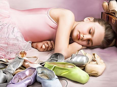 Ballerina sleeping