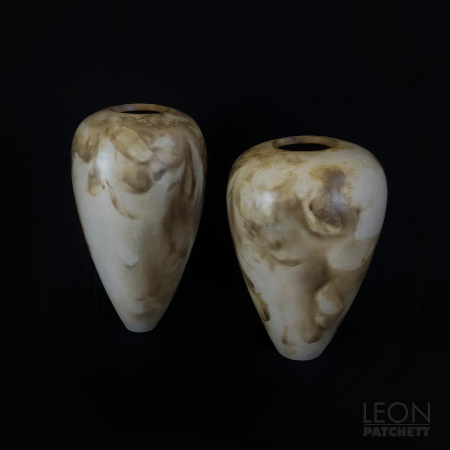 4. Leon Patchett_Smoke Fired Coil Vases_