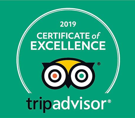 Tripadvisor 2019 Cert of Excellence Number 12