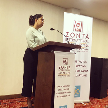 Dr. Balasuriya speaks at a Zonta Meeting about the SSP