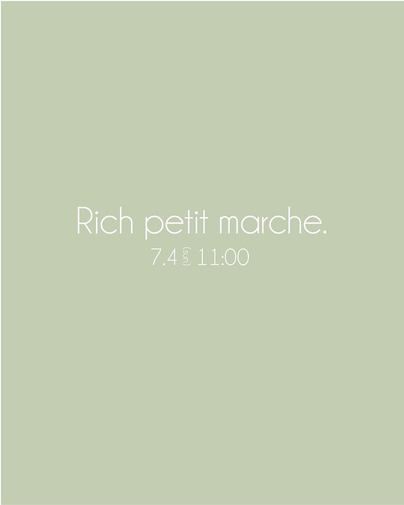 第3回Richの1Fで小さな マルシェを開催致します!