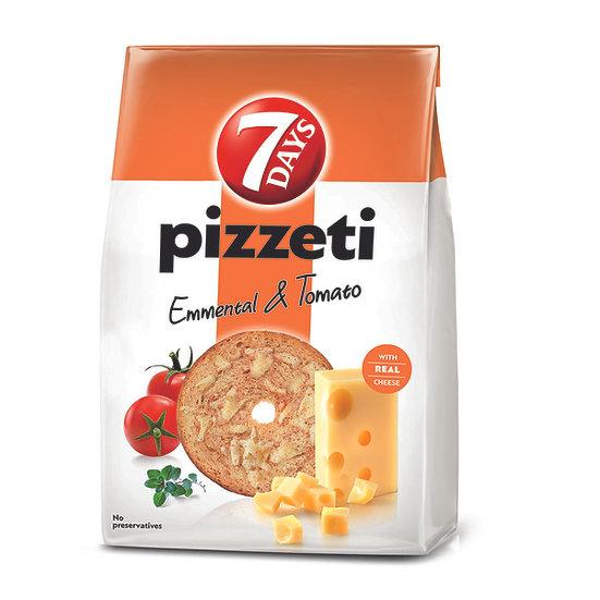 7 Days Pizzeti, paine prajita cu gust de branza si rosii 80 g