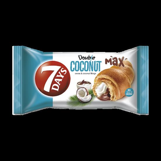 Croissant dublu 7 Days cu umplutura de cacao si nuca de cocos 80g