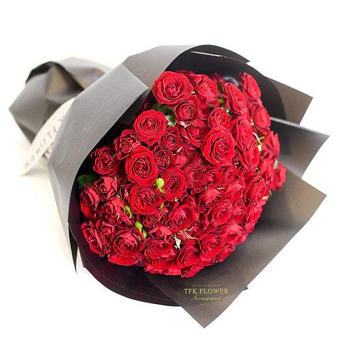 紅小玫花束