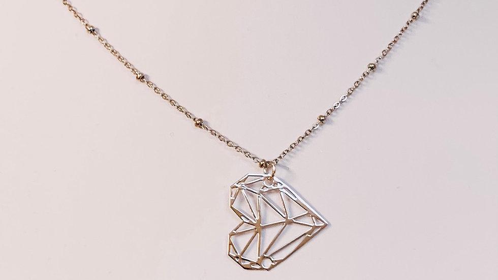 Halskette Geometric Heart