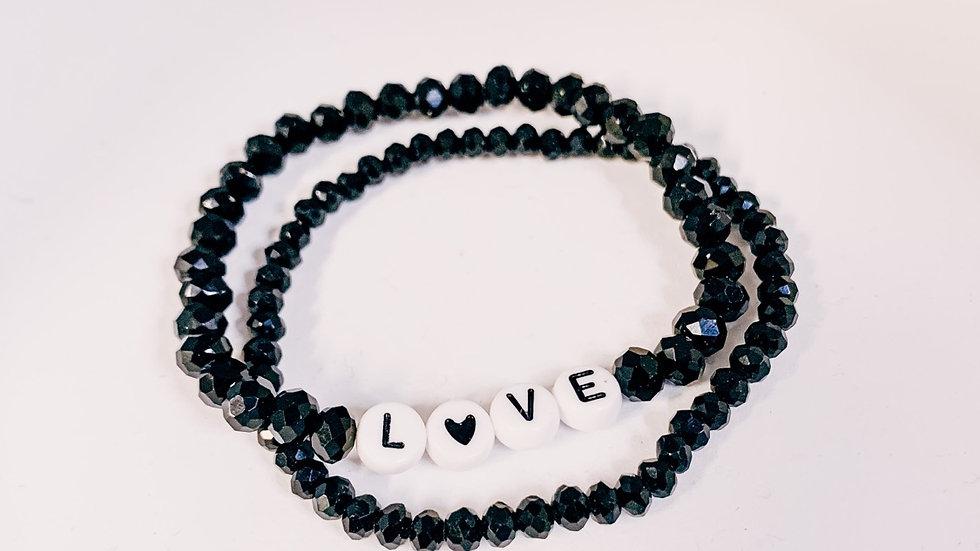 Perlenarmband Love