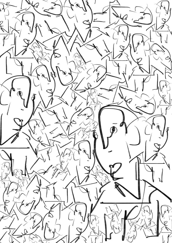 cramped up faces