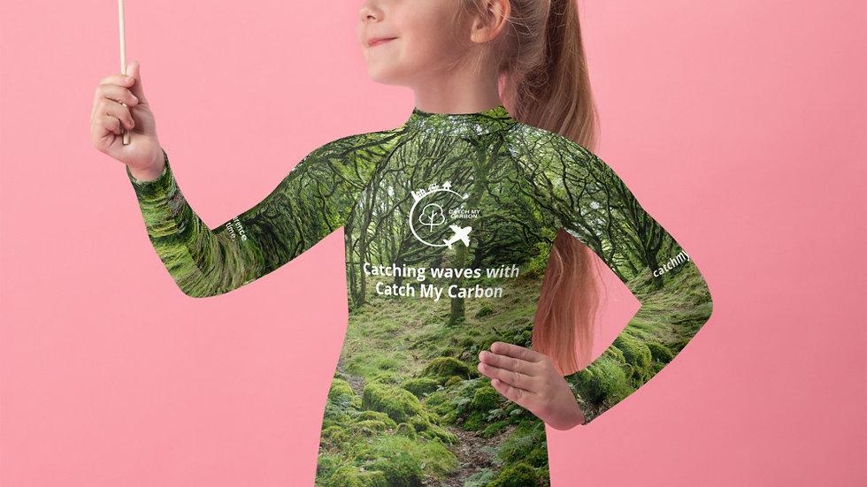 Girls Rash Guard - Plus 1 Native Irish Tree