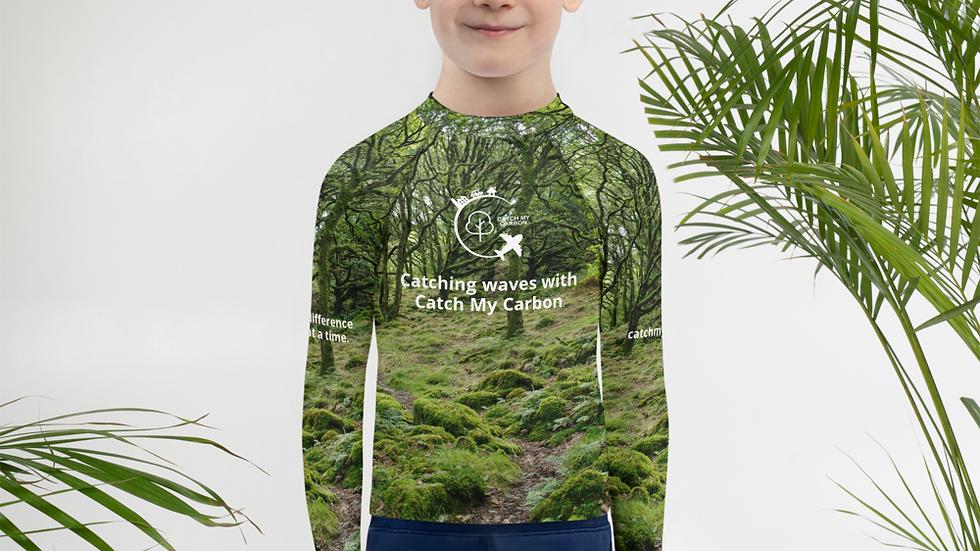 Kids Rash Guard - Plus 1 Native Irish Tree