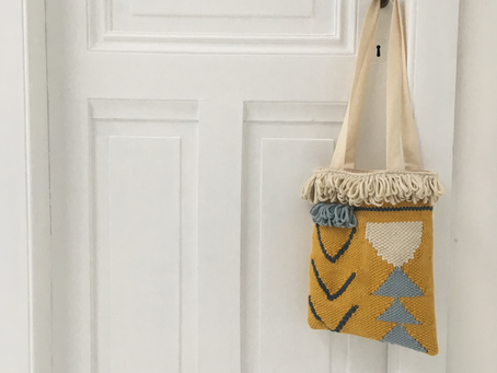 Een geweven tas