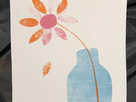 Planten en papierdruk