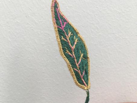 Geborduurde Croton Codiaeum Petra