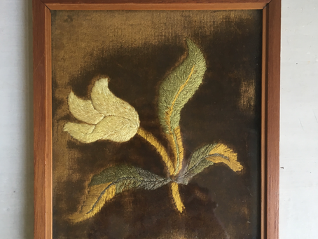 Een antieke bloem