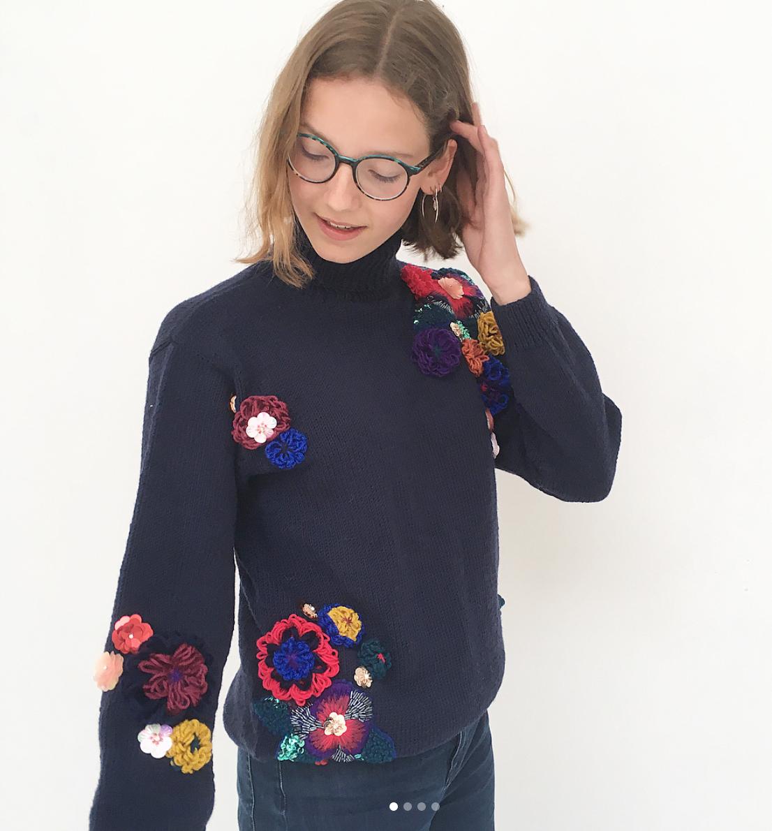borduurwerk op tricot