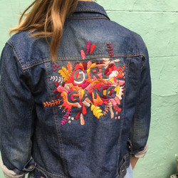 jeans jas 'girl gang'