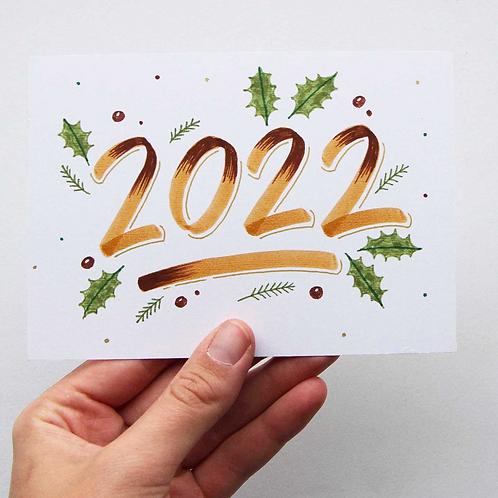 workshop *kerstkaarten brushletteren* 1 december '21