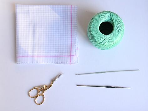 Een Zakdoek Met Een Gehaakt Randje Freelance Crafter Workshops