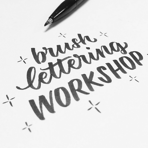 workshop *brushlettering* 28 oktober 2020