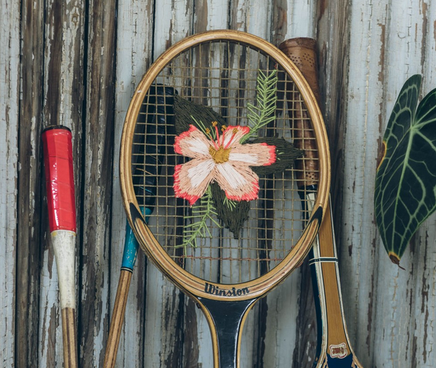 tennisracket borduren
