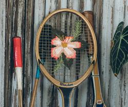 tennisracket borduren