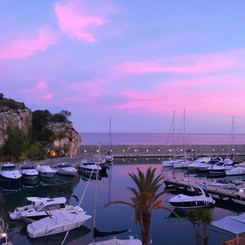 Sunset colours in the port