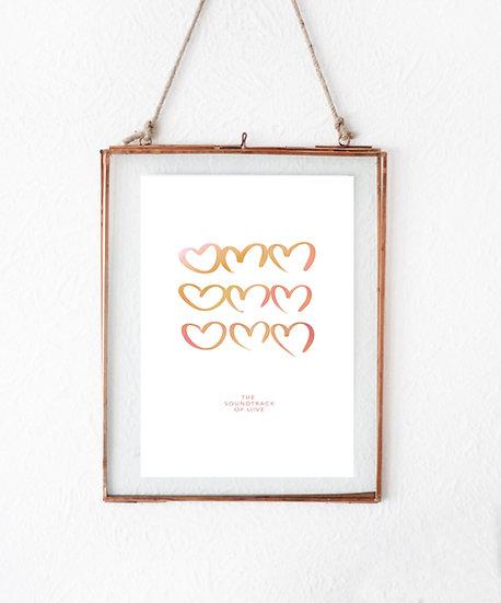 Omm Hearts (peach)
