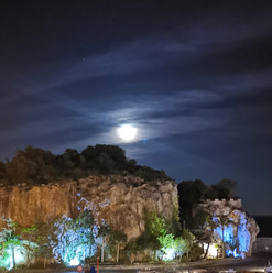 Full moon on the port